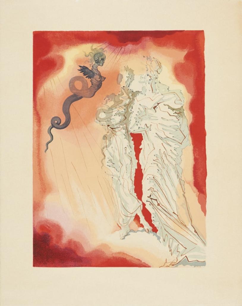 Salvador Dali's interpretation of Dante's 'Divine Comedy', estimated at €3,000-€6,000