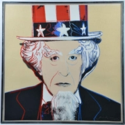 Uncle Sam has inspired several artists, including Andy Warhol, who paid homage with a diamond dust screenprint. This example attained $25,000 plus the buyer's premium in March 2018 at Abington Auction Gallery.