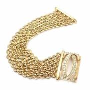 Cartier Penelope 18K yellow gold diamond Double C five-row link bracelet, estimated at $42,000-$56,000