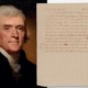 An 1805 letter from President Thomas Jefferson to a Revolutionary War hero sold for $68,750.