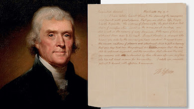 Thomas Jefferson letter auctioned for more than $68K in Boston