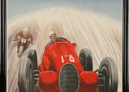 This French poster for the October 8, 1939 Grand Prix race in Zurich brought $19,000 plus the buyer's premium in January 2019 at Kamelot Auctions.