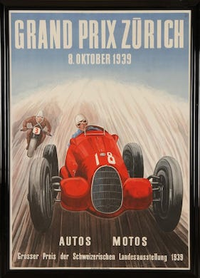 Vroom! Collectors race to bid on vintage Grand Prix posters