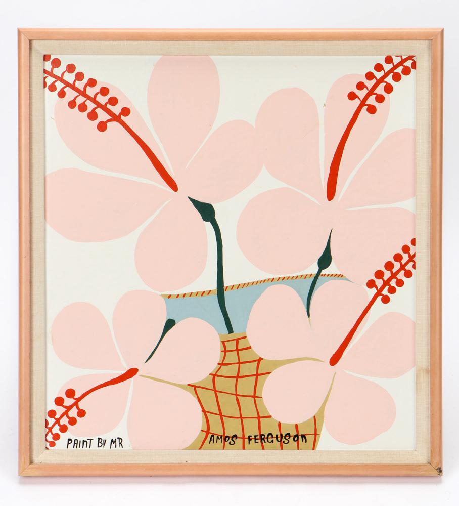 Amos Ferguson, 'Hibiscus Flowers,' est. $3,000-$5,000
