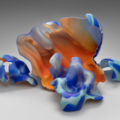 'Russian Group #5,' 2006-7, Marvin Lipofsky, (1938-2016). Mold-blown glass; cut, sandblasted, and acid polished. Blown at the 1st International Symposium of Art Glass, Gus-Khrustalny, Russia, with help from Vladimir Zakharov and Boris Arbusov. Courtesy of Marvin Lipofsky Studio.