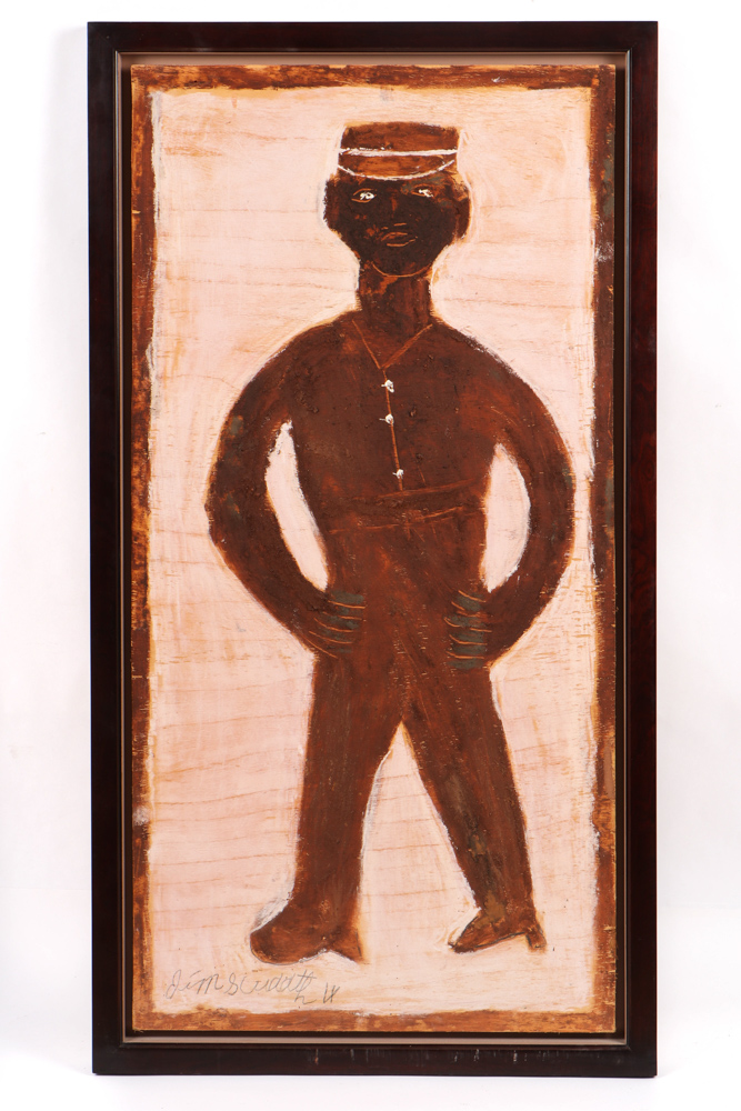 Jimmie Lee Sudduth, 'Self-Portrait,' est. $1,000-$2,000