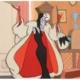 Original animation cel depicting Cruella DeVille from Disney's '101 Dalmations,' est. $2,500-$3,000
