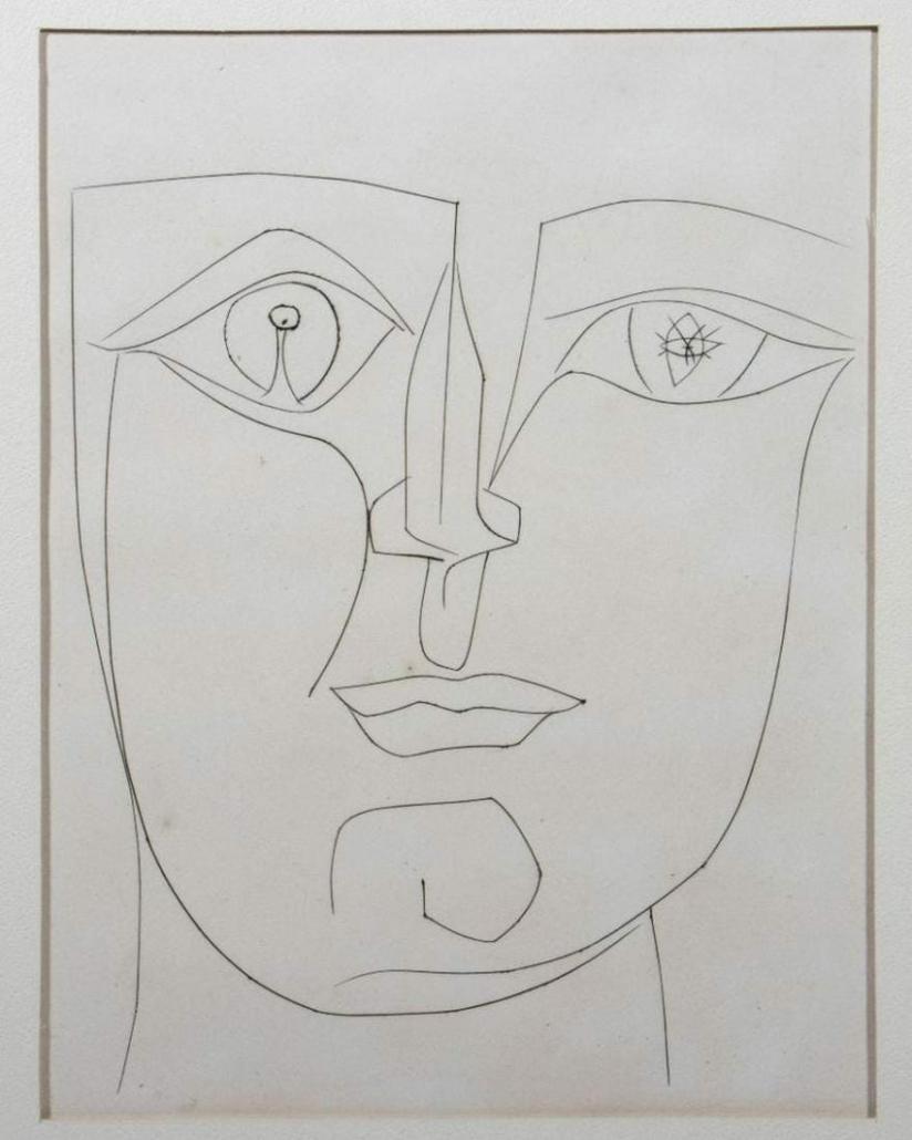 Pablo Picasso, 'Square Head,' 1949 engraving, est. $1,000-$2,000