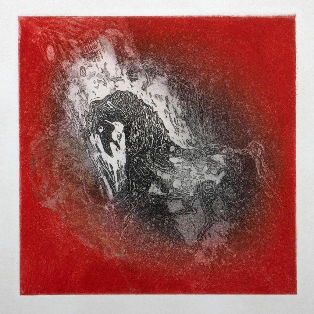 Hoi Lebadang, 'Horses Color' etching and aquatint, est. $800-$1,200