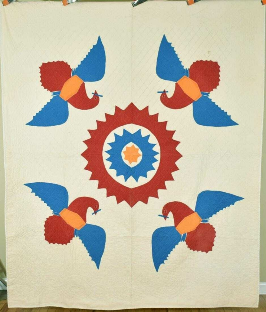 Early 20th century quilt, est. $1,400-$1,600