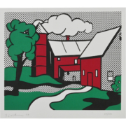 Roy Lichtenstein, 'Red Barn,' $30,000