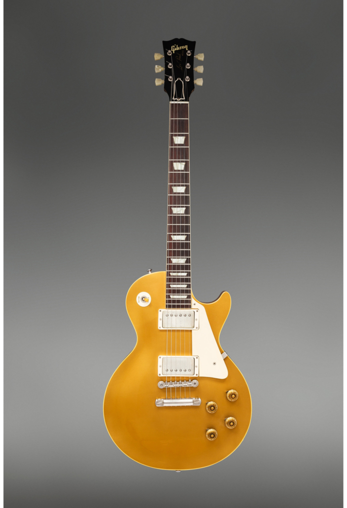 1957 Gibson Les Paul Goldtop solid body, $131,250