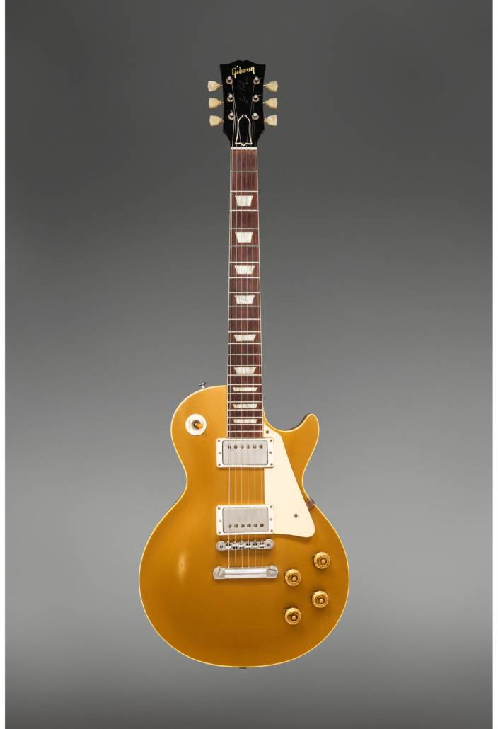 1958 Gibson Les Paul Standard Goldtop solid body, $125,000