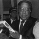 Author Alex Haley photographed at University of Texas at Arlington's Texas Hall in 1980 during a speaking engagement. Courtesy of Wikimedia Commons and the University of Texas at Arlington Libraries under the Creative Commons Attribution 4.0 International license.