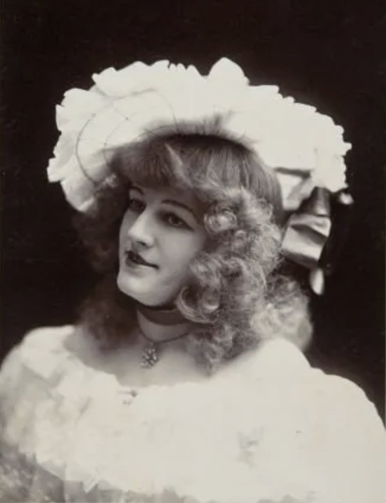 Circa-1899 photograph of popular Klondike dance hall girl Cad Wilson, who appears to be wearing a necklace whose pendant is made of gold nuggets. It sold for $950 plus the buyer's premium in June 2012 at Heritage auctions. Image courtesy of Heritage Auctions and LiveAuctioneers