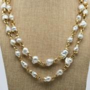 Elizabeth Gage 18K gold necklace with baroque South Sea pearls, est. $70,000-$120,000