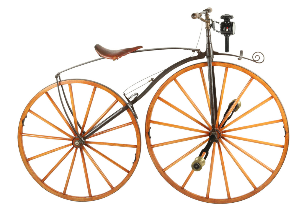 1869 French style Boneshaker bicycle, est. CA$3,000-$3,500