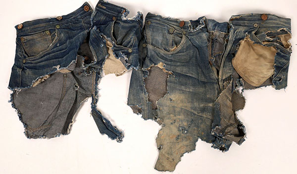 Levi jeans fragments from the 1880s, $10,312