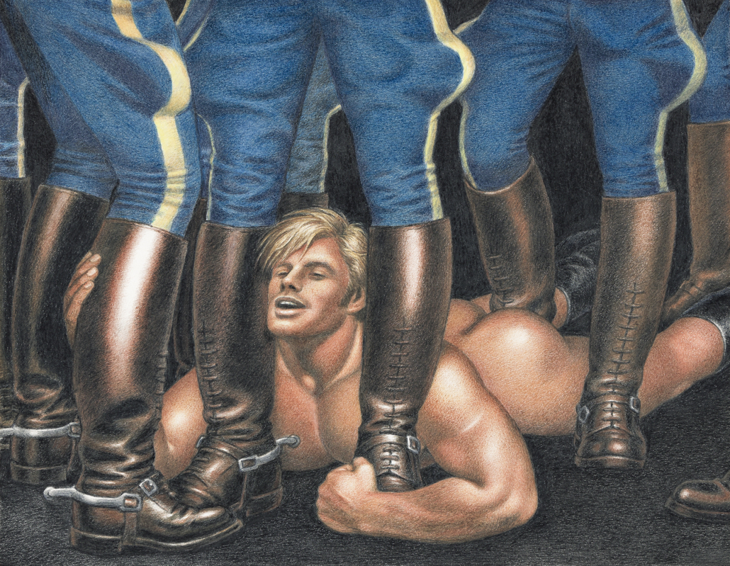 Tom of Finland, 'Home – Secured,' 1982. Sold for $87,500, a record for the artist.