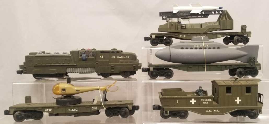 Handmade factory production of Lionel's 1805 Land, Sea and Air Attack set, $8,700