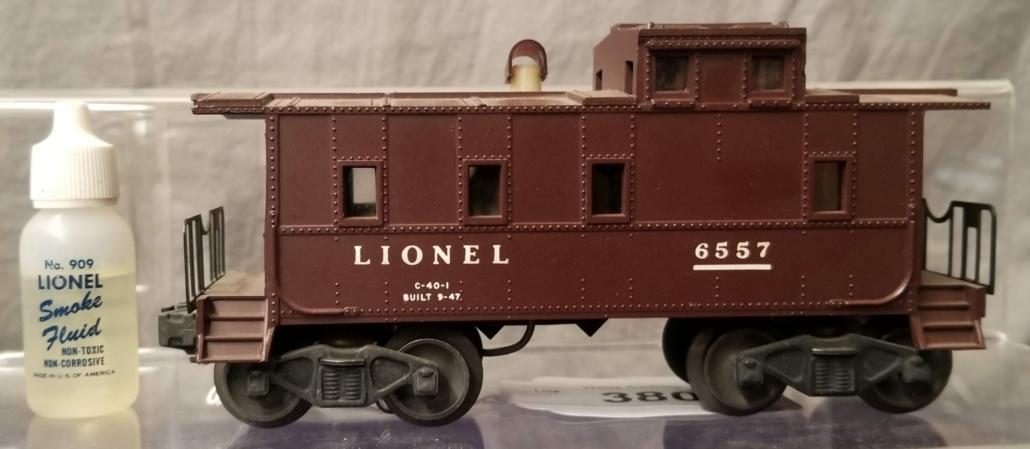 Lionel 6557 reverse number train car, $4,680
