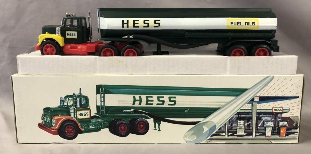 1969 Hess Woodbridge tanker truck with original box, $4,200