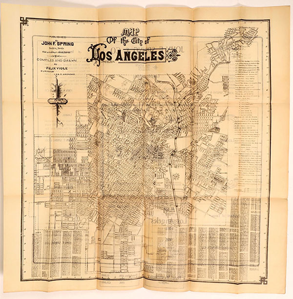 1902 map of Los Angeles, $2,000