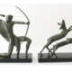 Michel Decoux, 'Hunter with Bow Chasing Two Deer,' circa 1918, est. $9,000-$11,000