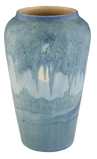 Newcomb College Moon and Moss matte glaze baluster vase by Anna Frances Simpson, est. $4,500-$6,500