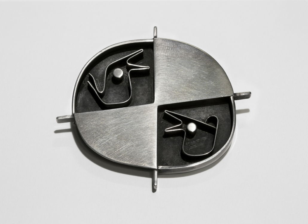 Sterling silver pin by Betty Cooke, 1951. © Cranbrook Art Museum. Courtesy of the Walters Art Museum.