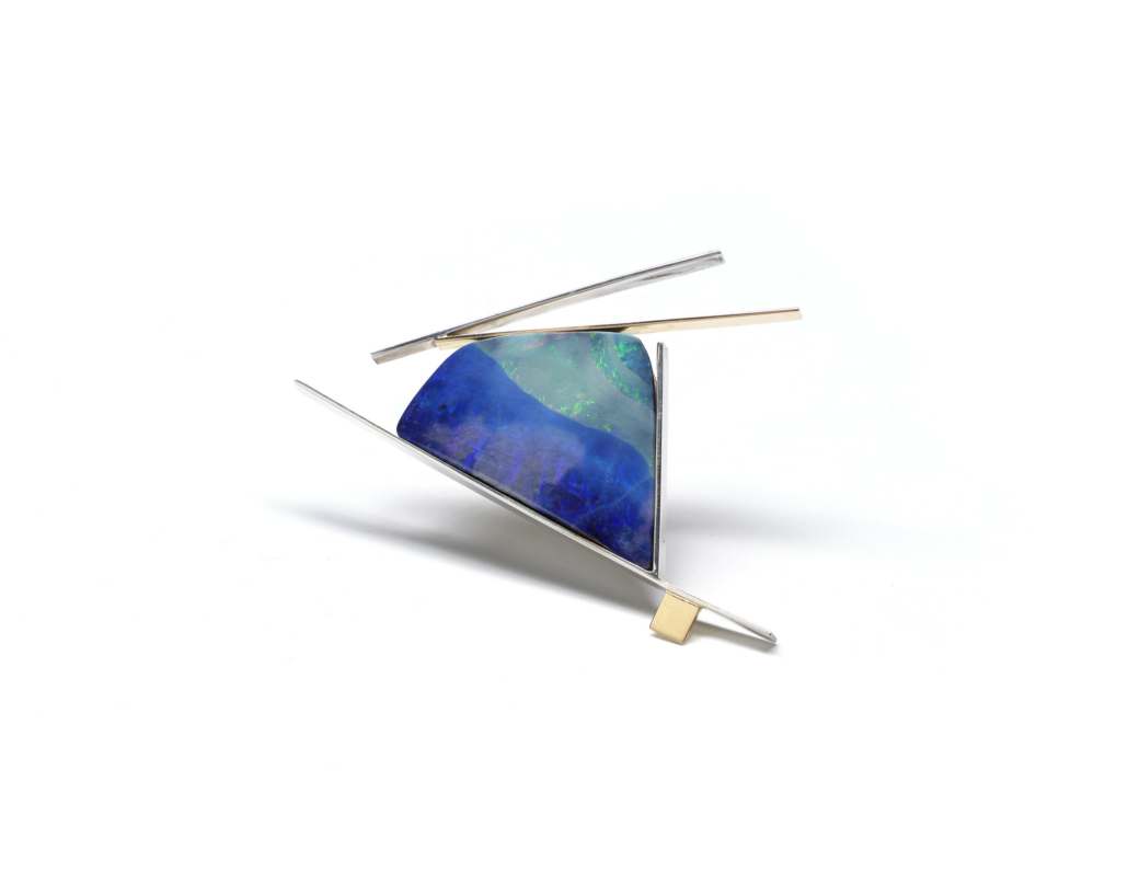 Gold and opal pin by Betty Cooke, circa 2011. ©Betty Cooke. Courtesy of the Walters Art Museum.