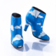 Prince wore these iconic blue ankle boots with hand-painted white clouds in his 1986 Raspberry Beret music video, along with a matching suit. These shoes were made before Prince had his cobblers reinforce his heels, so two identical pairs of the shoes were made for (and survived) the arduous production of the music video. Photo credit: John Wagner Photography © 1985-2021 The Estate of Prince Rogers Nelson. All rights reserved.