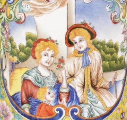 Chinese enamels reflected perception of European culture