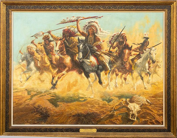 William Douglas Rosa, 'Sitting Bull's Charge,' 1972, $4,375