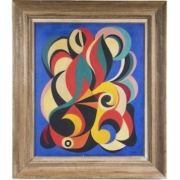 Untitled abstract painting by French artist Auguste Herbin, est. $30,000-$50,000