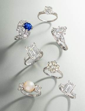 Selection of diamond rings in Hindman's September 13 auction