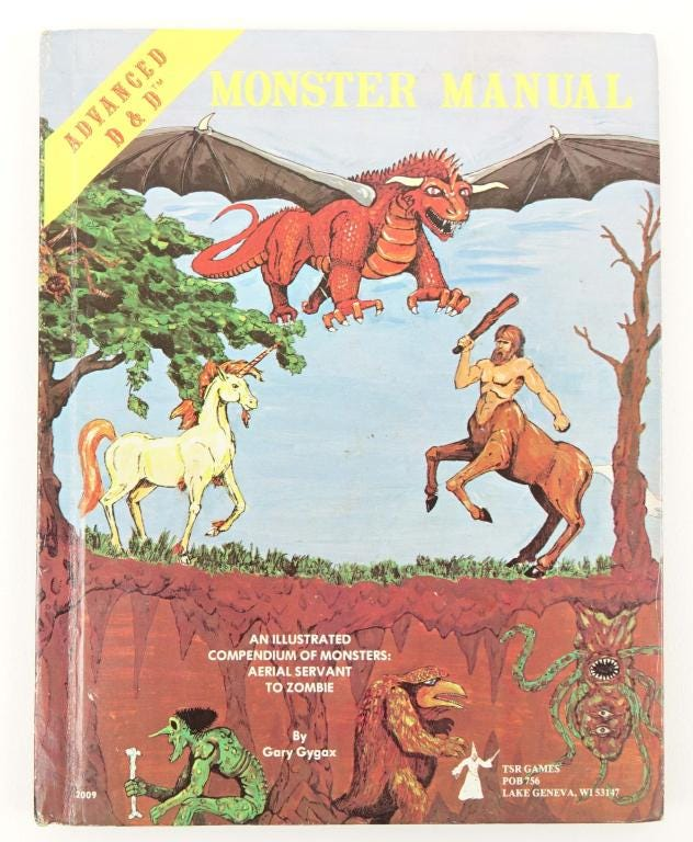 One from a group of six Advanced Dungeons & Dragons books that brought $475 in April 2021 at Lot 14 Auctions. Image courtesy of Lot 14 Auctions and LiveAuctioneers