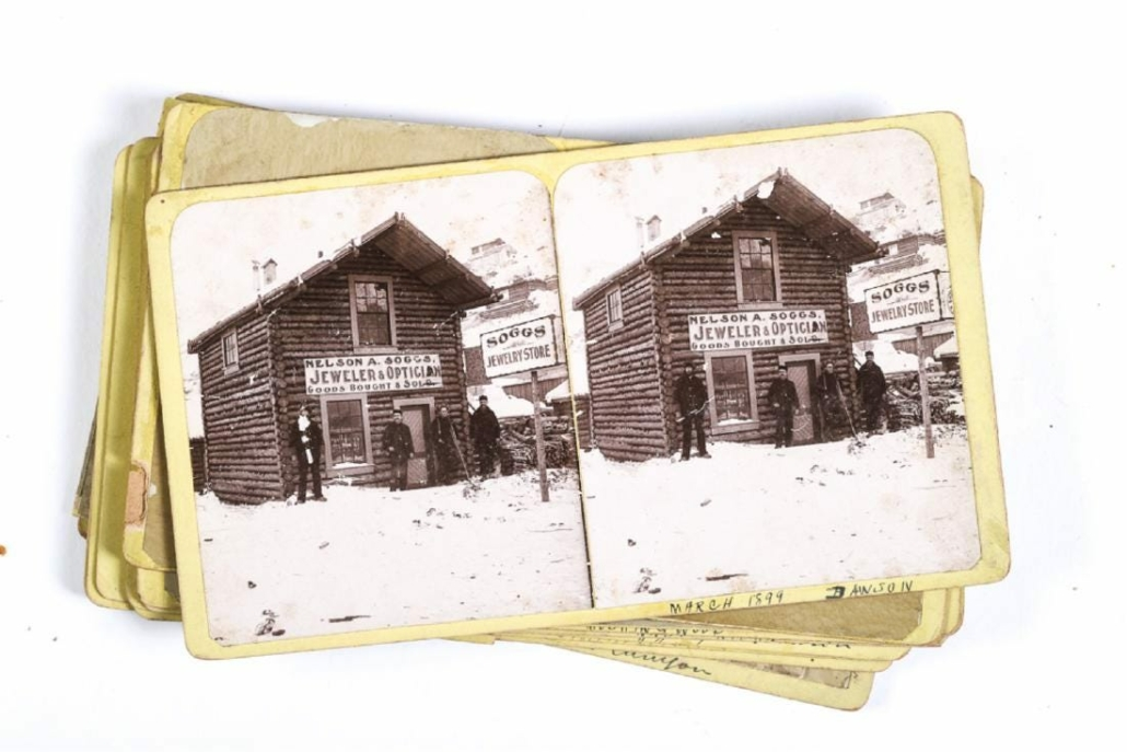 This collection of 1898 Klondike Gold Rush letters, photos and gold nuggets earned $3,250 plus the buyer's premium in May 2019 at John McInnis Auctioneers. Photo courtesy of John McInnis Auctioneers and LiveAuctioneers.