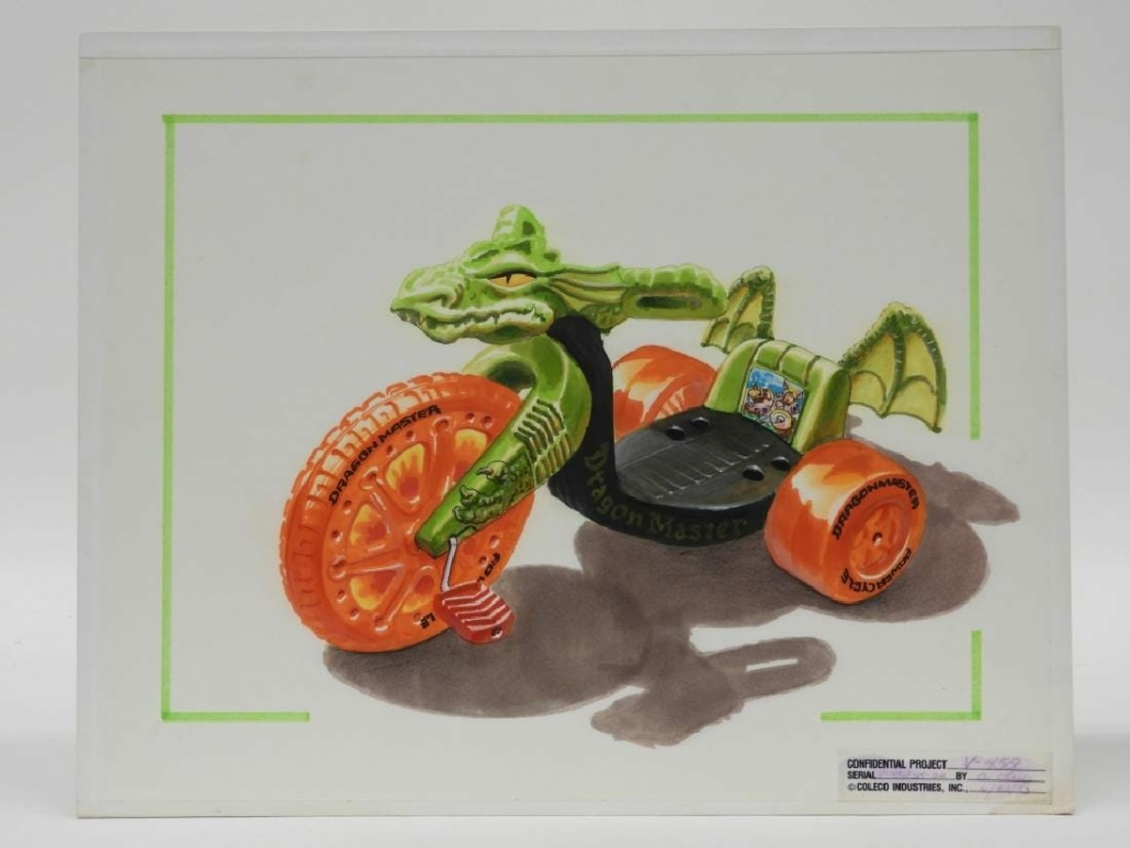 This Dungeons & Dragons Power Cycle production concept watercolor drawing made $600 plus the buyer's premium in January 2019 at Bruneau & Co. Auctioneers. Image courtesy of Bruneau & Co. Auctioneers and LiveAuctioneers