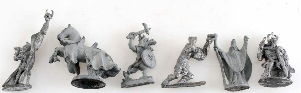 This grouping of unpainted Ral Partha D&D figures brought $240 plus the buyer's premium in January 2020 at Affiliated Auctions. Image courtesy of Affiliated Auctions and LiveAuctioneers