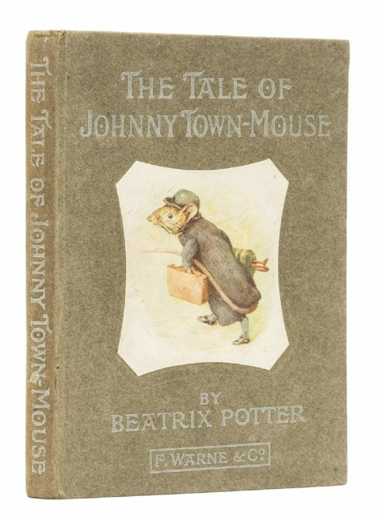 This first edition of The Tale of Johnny Town-Mouse sold for $3,578 plus the buyer's premium in September 2017 at Forum Auctions. Photo courtesy of Forum Auctions and LiveAuctioneers.