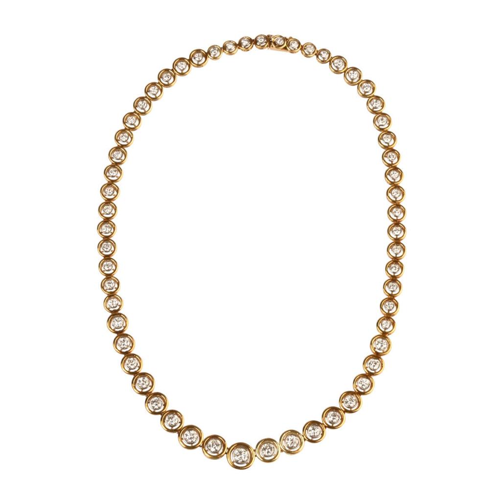 La Triomphe diamond and 18K gold Riviera necklace, $7,200
