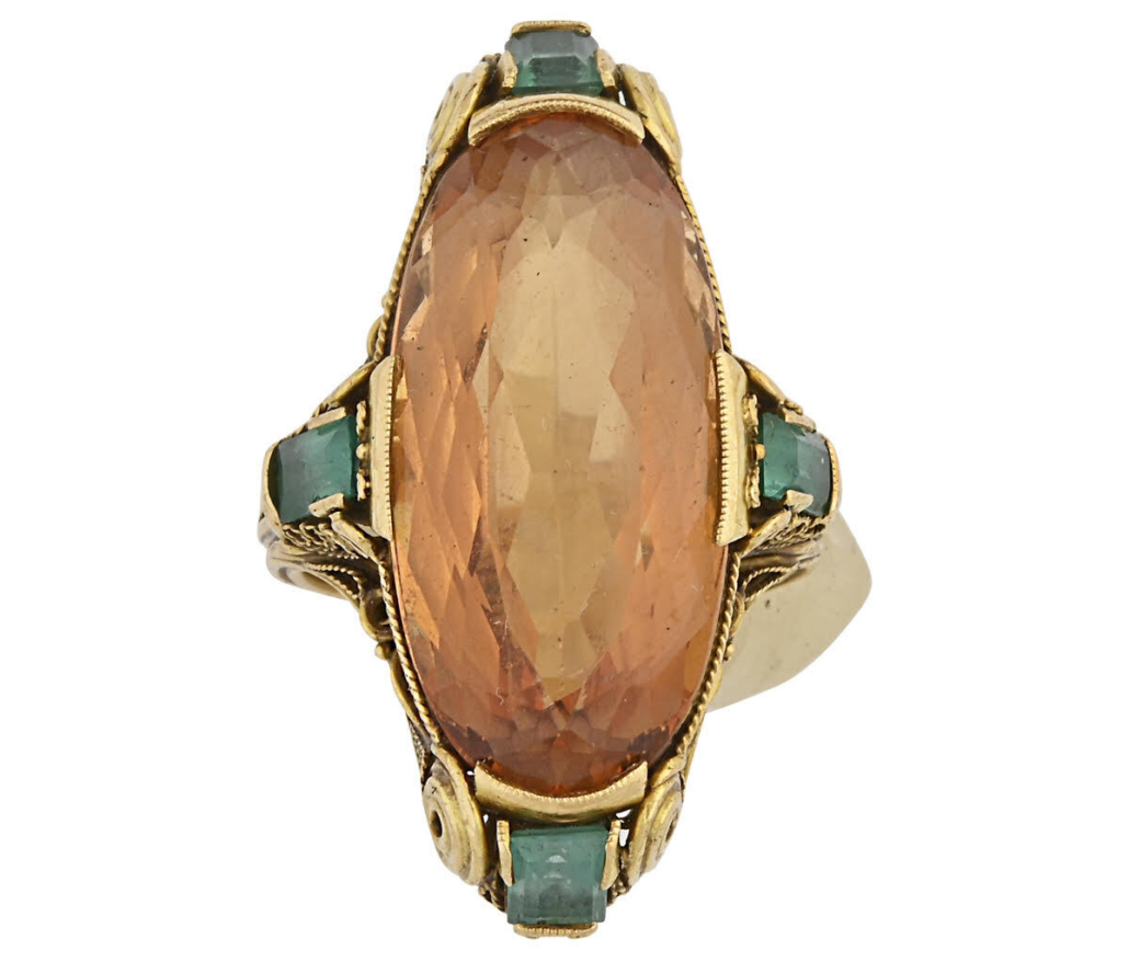 Ring designed for Tiffany & Co. by Louis Comfort Tiffany, $18,000