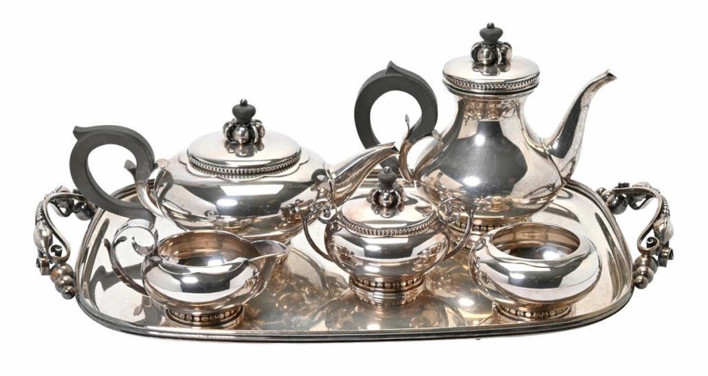 Alphonse La Paglia Modernist tea service, $5,100
