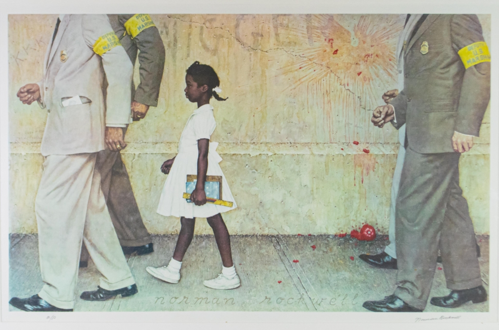 Norman Rockwell collotype, est. $3,000-$4,000