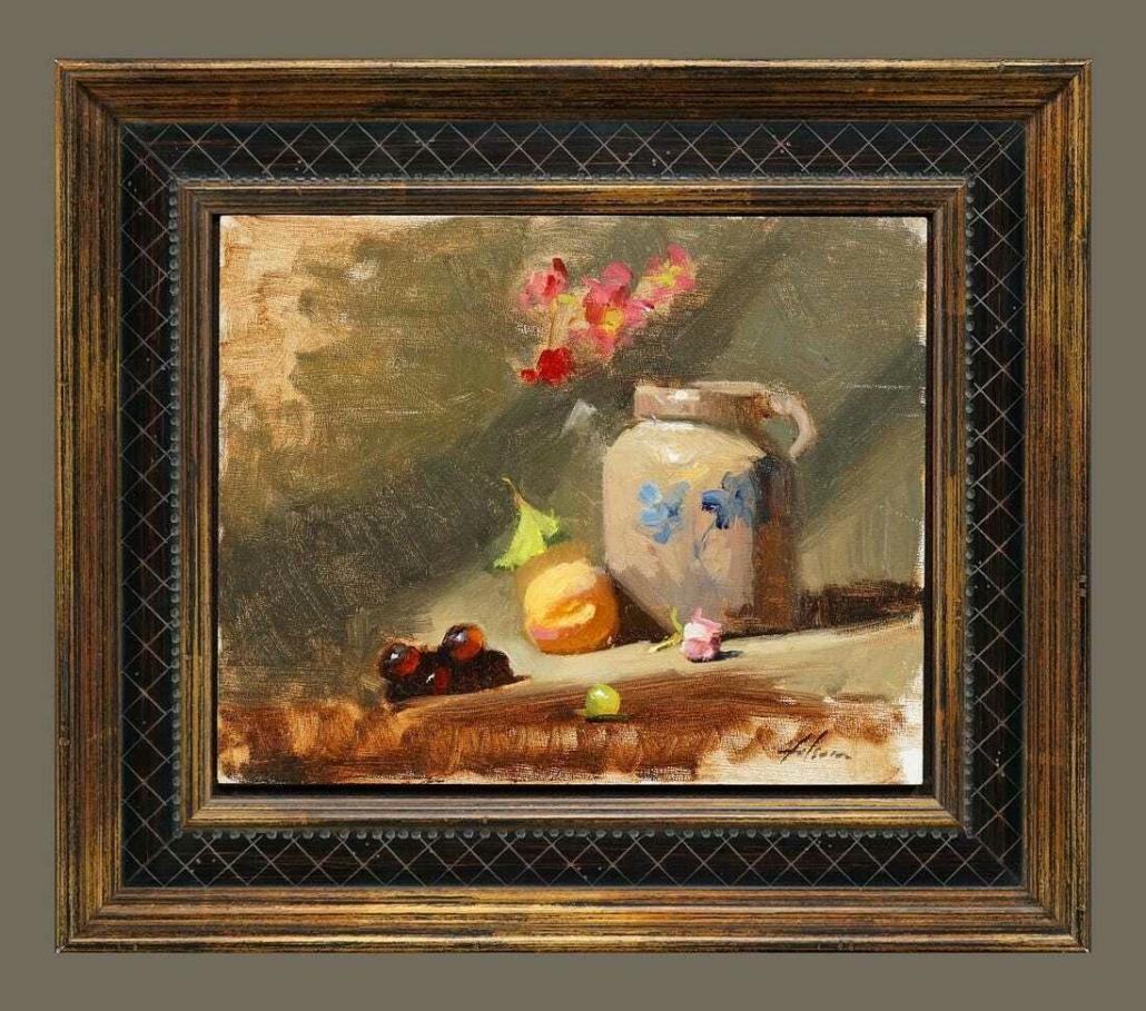 Kelli Folsom, 'Still Life: Jug, Fruits and Flowers,' est. $600-$1,000