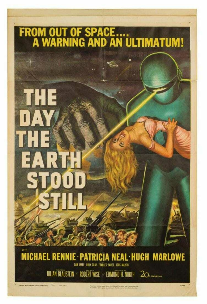 The Day the Earth Stood Still poster, est. $6,000-$10,000