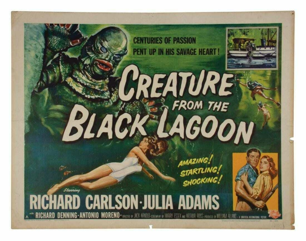 Creature from the Black Lagoon half-sheet poster, est. $2,000-$4,000