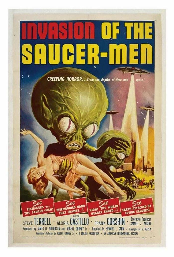 Invasion of the Saucer-Men poster, est. $3,000-$5,000