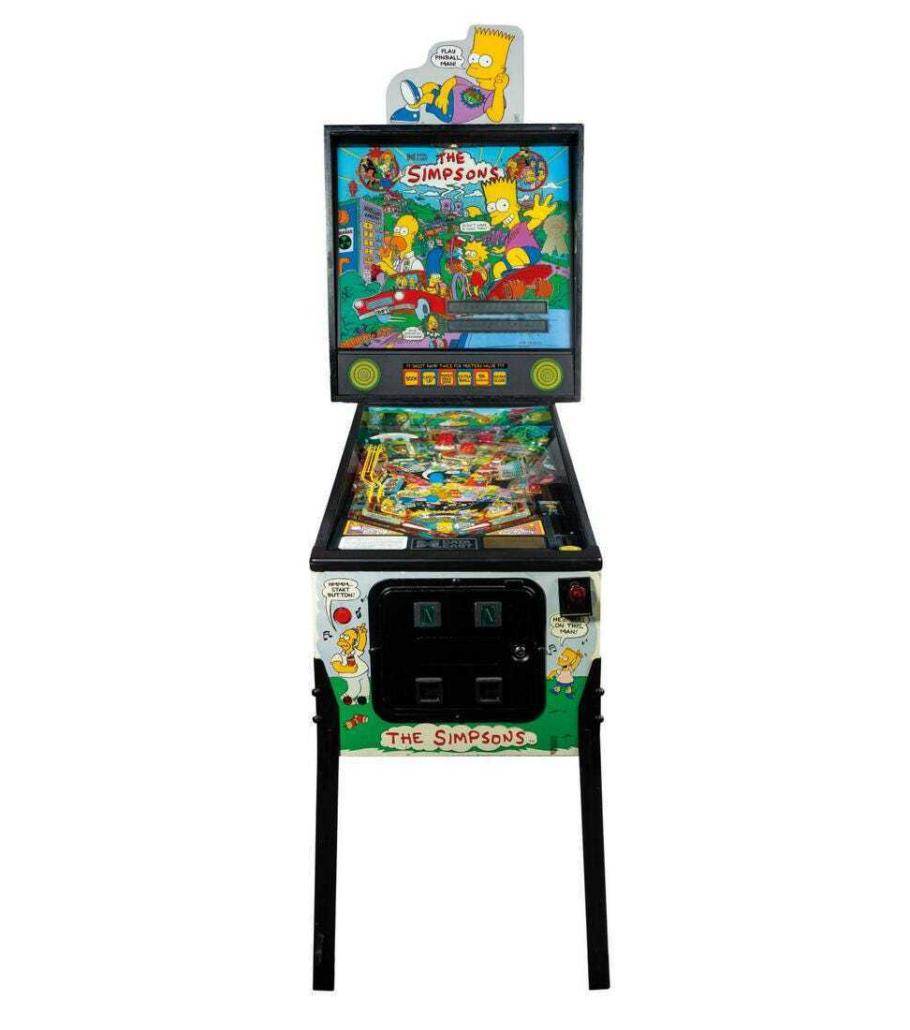 Nancy Cartwright's custom The Simpsons pinball machine, est. $7,000-$10,000